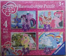 My Little Pony ~ 4 in una scatola puzzle Ravensburger ~ 12, 16, 20, 24 PEZZI