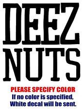"Deez Nuts Band Rock Music JDM Vinyl Decal Car Sticker Window bumper Laptop 6"""
