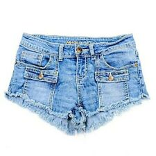 Almost Famous Womens Jean Shorts Size 1