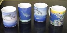 Euc! Lenox The Dolphin's Paradise Mug Collection - Complete w/Original Box & Coa