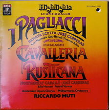 PAGLIACCI/CAVALLERIA RUSTICANA HIGHLIGHTS-SEALED1982LP SCOTTO/CABALLE/CARRERAS