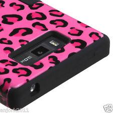 LG Splendor Venice Optimus Showtime L86C T Armor Hybrid Case Skin Cover Pink Leo