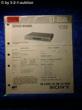 Sony Service Manual ST D50L Tuner  (#1378)