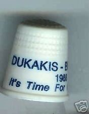 DUKAKIS + BENTSEN campaign THIMBLE 1988
