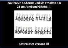 Buchstaben Strass A bis Z Charms Anhänger Alphabet ABC Charm Bettelarmband