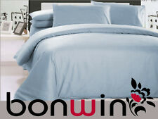 1000TC EGYPTIAN COTTON DOONA DUVET QUILT COVER SET PALE BLUE DOUBLE BED LINEN