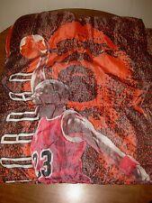 CHICAGO BULLS Michael Jordan beat-up vtg sleeping bag #23 basketball knapsack