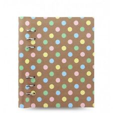 Filofax - A5 Clipbook Pastel Spots- Leather Look Organiser