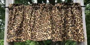 Leopard Safari Jungle Wildlife Cat Jaguar Skin Cheetah Brown Curtain Valance