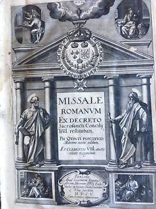 1605 Missale Romanum Bible Missel Armes Recollets Béziers Gravure Livres anciens