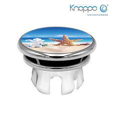 KNOPPO® Waschbecken Überlaufblende / Abdeckung - Mirror Seestern Motiv (chrom)