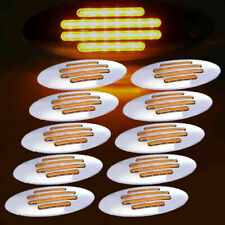 10PCS 24 LED Amber Side Marker Lamp Sealed Turn Light for Kenworth Peterbilt 12V