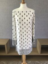 Womens Gypsy Dress Bardout Bell Sleeve White/black Size 12