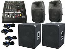The PA-SET18 Powermixer Pa System 2 Way 25 cm Speakers USB Complete 3200 Watt