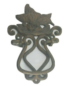 **Vintage Solid Cast Iron Steel Butterfly Door Knocker/ *Cabin Entrance Handle