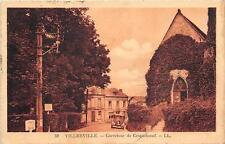 CPA 14 VILLERVILLE CARREFOUR DE CRIQUEBOEUF