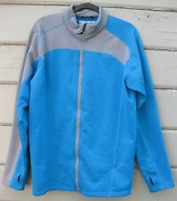 Obermeyer TRACER Mid-Layer Turquoise Fleece Zip Front L/S Jacket Men's L