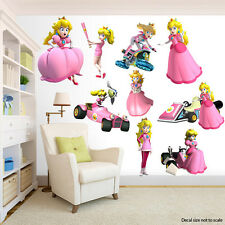 Princess Peach Room Decor Super Mario Bros.-  Wall Decal Removable Sticker