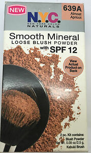 NYC SMOOTH MINERAL SPF 12 LOOSE BLUSHER POWDER - 639A ALMOST APRICOT *BRAND NEW*