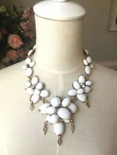 Oscar De La Renta  White Flower Necklace signed
