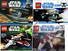 4 xlego Star Wars The Clone Wars república contrademanda separatistas 6966 30240 8033 30055