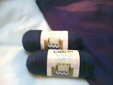 NEW Caron Simply Soft Yarn Knit Crochet (2) 6oz Skeins Acrylic DARK COUNTRY BLUE