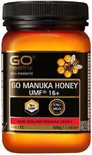 NEW ZEALAND GO Healthy GO Manuka Honey UMF 16+ ( MGO 570+ NPA 16+ )  500g