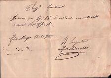RICEVUTA 50° REGGIMENTO FANTERIA DISTACCAMENTO DI FINALBORGO 1905 19-148