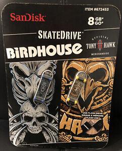 TONY HAWK BIRDHOUSE - SANDISK USB FLASHDRIVE SKATEDRIVE 8GB #672453 BRAND NEW