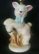 Vintage 1960's Little Bo Peep Mary had a Little Lamb Nursery Lamp light & Shade