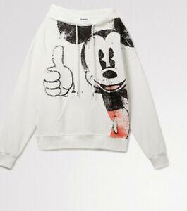 Desigual X Disney Hoodie Sweatshirt ~ Mickey Mouse ~ Size XL ~ NWOT