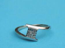 Ladies Genuine Princess Diamond Cluster Ring w/ 16 Diamonds - 10K White Gold