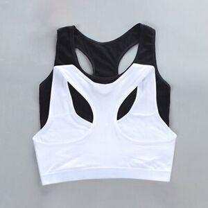 Cotton Bra Training Bra Sports bra Underwear for Teenage 8-16 Years Girls' Vest
