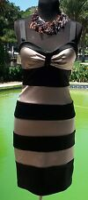 Cache Satin Built In Bra Bustier Event Dress New Sz 2/4/6 S Color Block $178 NWT