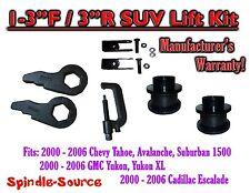 "2000 -2006 Chevrolet GMC 1500 1-3"" / 3"" Torsion Key Lift Chevy Spacer EXT + TOOL"