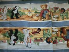 BLUE JEAN TEDDY bear fabric tractor teddy BUMPER FABRIC DAISY KINGDOM OOP NEW