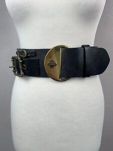 Diesel Thick Black Leather Belt Size 70/28