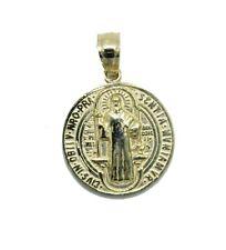 San Benito 10k Gold Round Medal- San Benito Medalla  - St.Benedict  Oro 10k