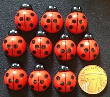 Kawaii Resin flatback Ladybird Embellishments 10 pcs