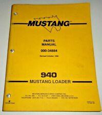 Mustang 940 Skid Steer Loader Parts Manual Catalog Book Original 1090 Owatonna