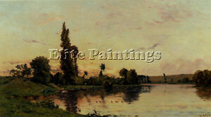 DELPY HIPPOLYTE CAMILLE WASHERWOMEN RIVERBANK ARTIST PAINTING OIL CANVAS REPRO