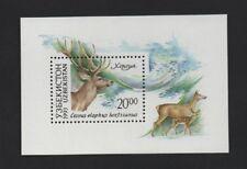 UZBEKISTAN 1993 ANIMALS (RED DEER) **VF MNH MINIATURE SHEET**