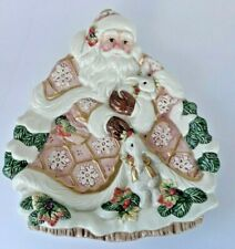 New listing Fitz and Floyd Classics Old World Father Christmas Rabbit Plate Holiday Platter