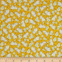 Toy Box Miniatures Yellow Pigs Fabric P&B Textiles FQ +More 100% Cotton