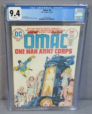 OMAC #5 (Jack Kirby story, cover art) CGC 9.4 NM White Pages DC Comics 1975