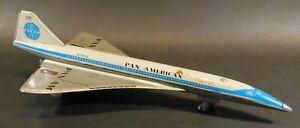Vintage DAIYA Japan PAN AMERICAN Concorde Friction Metal Toy