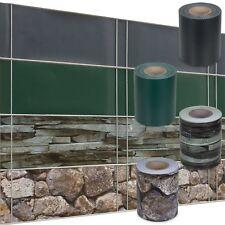 PVC Zaun Sichtschutzstreifen verschiedene Designs