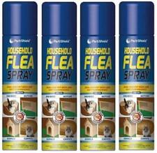 4x Household Flea Killer Spray 200ml Aerosol Animal Flea Dog Cat Tick Protection