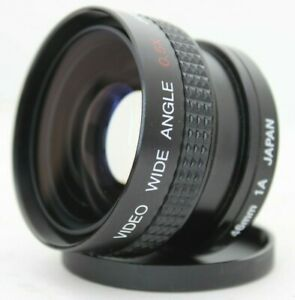 Video Wide Angle Converter Lens 0.5x Japan with PL Light Filter M49 M46 thread