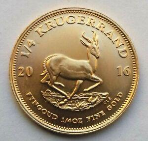2016 Quarter Ounce 1/4oz Gold Krugerrand in Capsule.